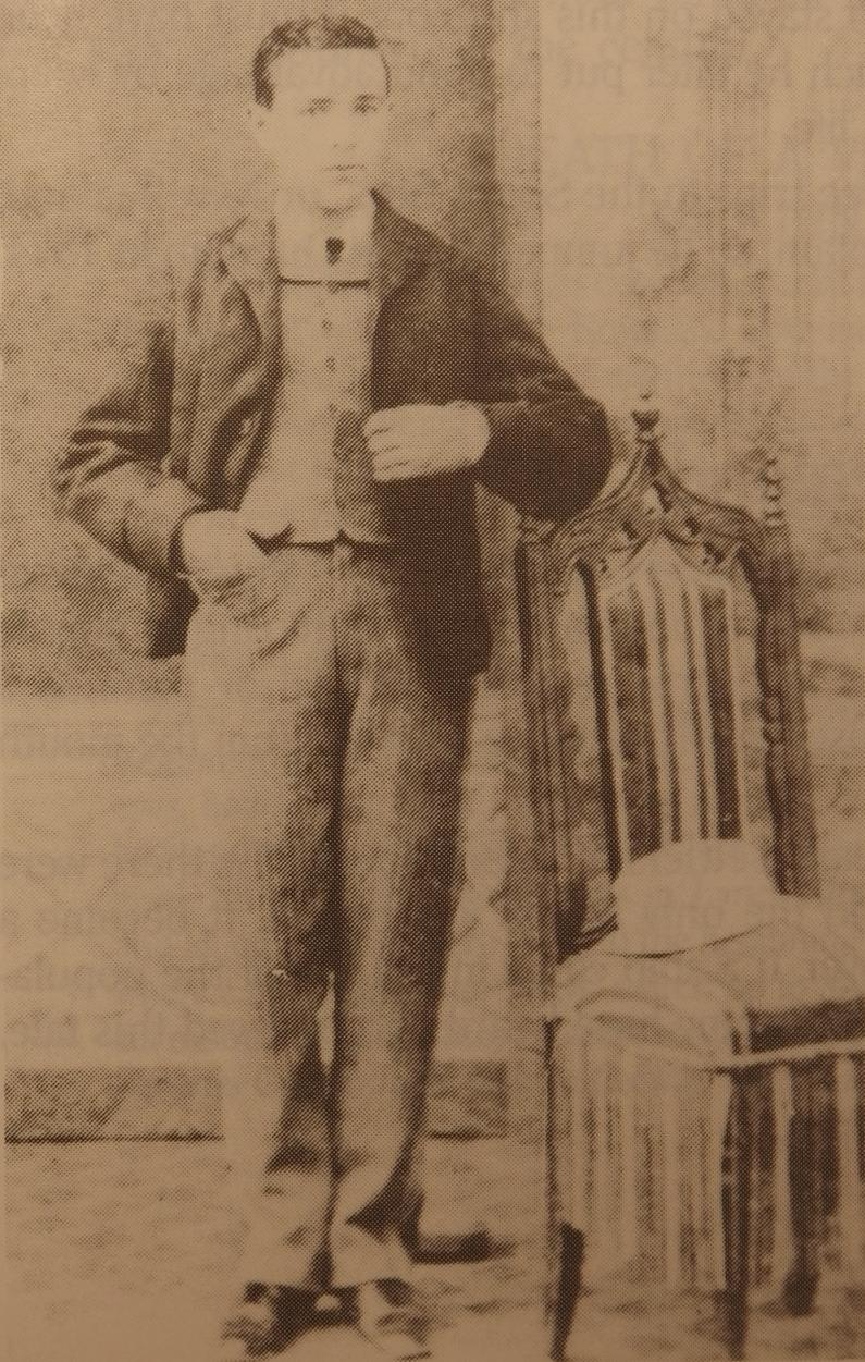Francisco Juanico as a young man in Barcelona